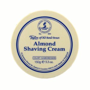 Almond Shaving cream in bowl-0