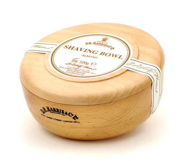 Almond shaving soap bowl-0