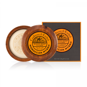Moroccan Myrrh Shaving Soap in Wooden Bowl-0